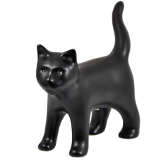 Black Kitty Figurine Urn