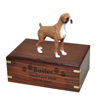 Boxer Uncropped Figurine Urn