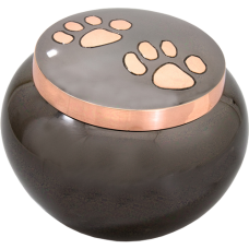 Cat Cremation Urns: Copper Pawprints, Gloss