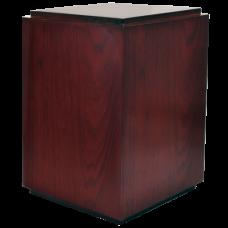 Classic Cherry Finish Wood Urn