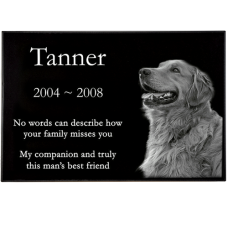 Classic Pet Laser Engraved Granite Headstone