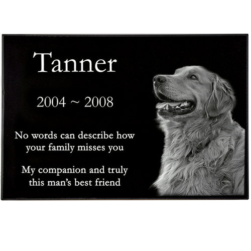 Classic Pet Laser Engraved Granite Headstone -  - FE-6121, FE-8122, FE-9142, FE-1016