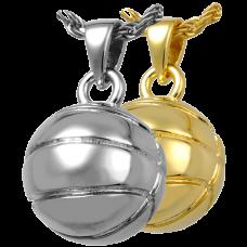 Cremation Jewelry: Basketball Pendant
