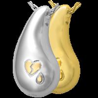 Cremation Jewelry: Broken Heart Teardrop Pendant