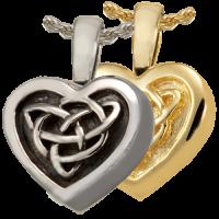 Cremation Jewelry: Celtic Heart Pendant