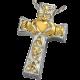 Cremation Jewelry: Claddagh Celtic Cross Pendant -  - 3118