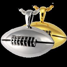 Cremation Jewelry: Football Pendant