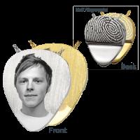 Cremation Jewelry Guitar Pick Engraved Photo Front/Fingerprint Pendant