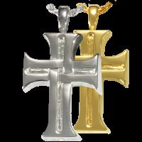 Cremation Jewelry: Men's Cross Pendant
