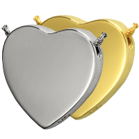 Cremation Jewelry: Peaceful Heart Pendant