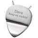 Cremation Jewelry: Photo Engraved Guitar Pick Pendant -  - 3193 photo