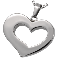Cremation Jewelry Premium Stainless Steel Affectionate Heart Pendant