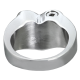 Cremation Jewelry: Premium Stainless Steel Bold Heart Ring -  - SR208B