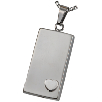 Cremation Jewelry Premium Stainless Steel Heart of Foundation Pendant