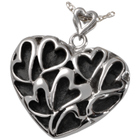 Cremation Jewelry Premium Stainless Steel Heart of Hearts Pendant