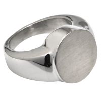 Cremation Jewelry: Premium Stainless Steel Round Ring
