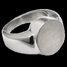 Cremation Jewelry: Premium Stainless Steel Round Ring
