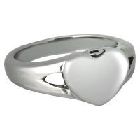 Cremation Jewelry: Premium Stainless Steel Simple Heart Ring