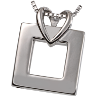 Cremation Jewelry Premium Stainless Steel Wrapped in Love Pendant