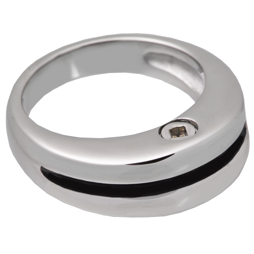 Cremation Jewelry: Premium Stainless Steel Zenith Ring -  - SSR205