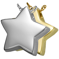 Cremation Jewelry: Slide Star Pendant