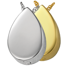 Cremation Jewelry: Slide Teardrop Pendant