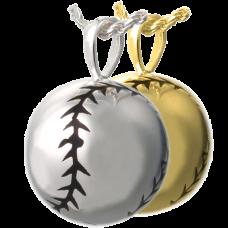 Cremation Jewelry: Softball Pendant