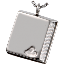 Cremation Jewelry Stainless Steel Book of Love Pendant