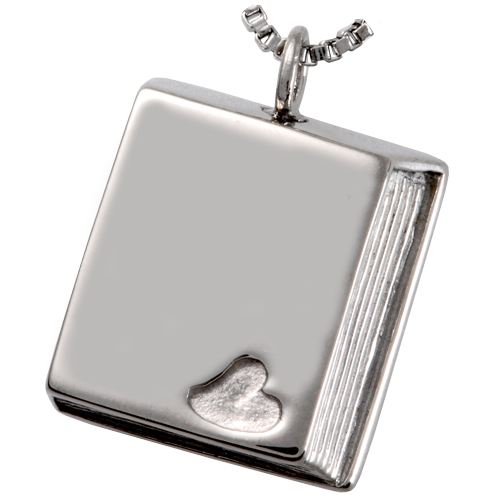 Cremation Jewelry Stainless Steel Book of Love Pendant -  - 6805