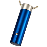 Cremation Jewelry Stainless Steel Royal Blue Cylinder Pendant