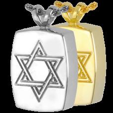 Cremation Jewelry: Star of David Pendant