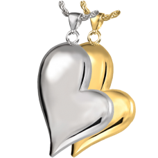 Cremation Jewelry Teardrop Shaped Heart Pendant