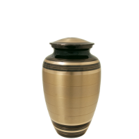 Cremation Urns: Black and Brass Sharing Urn- 6""