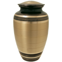 Cremation Urns: Black and Brass Urn