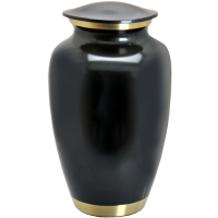 Cremation Urns: Dark Pewter w/ Two Gold Bands