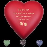 Customizable Memorial Heart Pet Urn