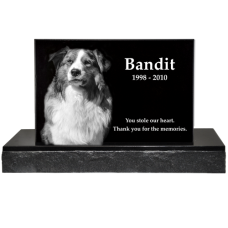 Deluxe Standing Pet Laser Engraved Granite Headstone
