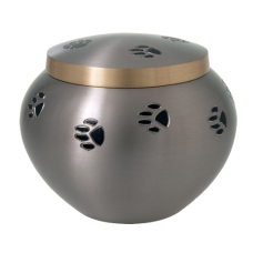 Pet Urns: Black Pawprints Dog Urn- XL