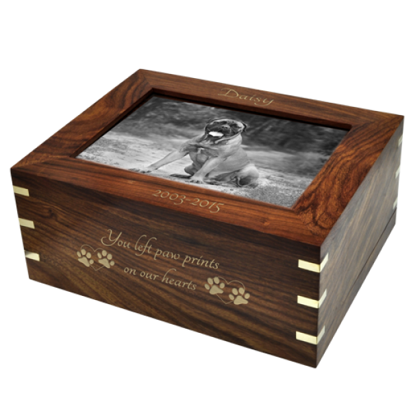 Wood Cremation Urns Dog Urn Perfect Wood Box With Photo