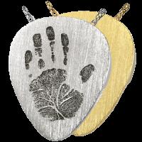 Fingerprint Cremation Jewelry: Guitar Pick- Handprint Pendant