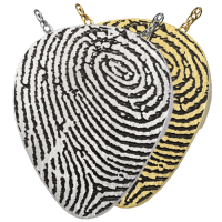 Fingerprint Cremation Jewelry: Guitar Pick Pendant