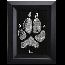 Framed B&W Art Pet Print- Pawprint