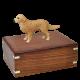 Golden Retriever Figurine Wood Urn for Pet Dog w/ Breed Figurine -  - SWH003A,B,C,L-DF09