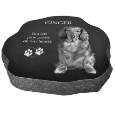 Granite Pet Headstone Marker- Rustic02