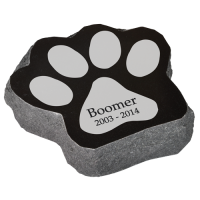 Granite Pet Paw Headstone Marker