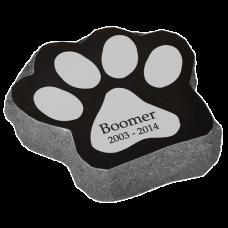Granite Pet Paw Headstone Marker