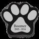 Granite Pet Paw Headstone Marker -  - PetPaw