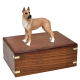 Great Dane Fawn Wood Urn for Pet Dog w/ Breed Figurine -  - SWH003A,B,C,L-DF16B>