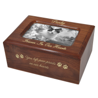 Memory Box Cat Urn with Photo Window- Slider