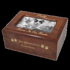 Memory Box Cat Urn with Photo Window- Slider